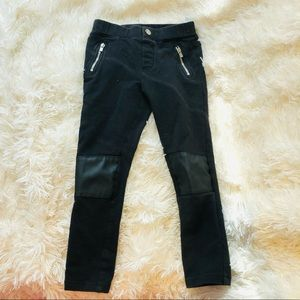 Faux leather leggings for 4-5Y